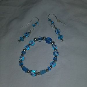 NWOT HAND MADE BRACELET AND EARRINGS SET